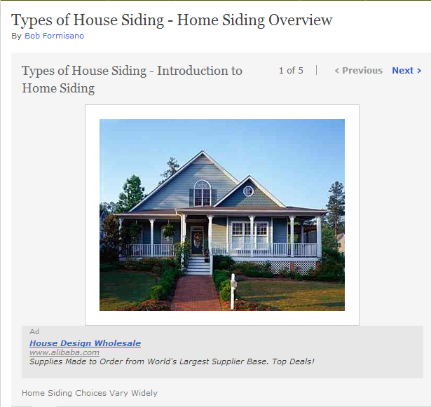types of house siding